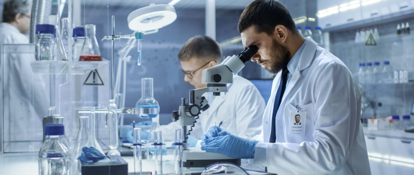 Photo of scientists working in a science lab