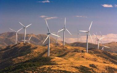Photo of some wind turbines