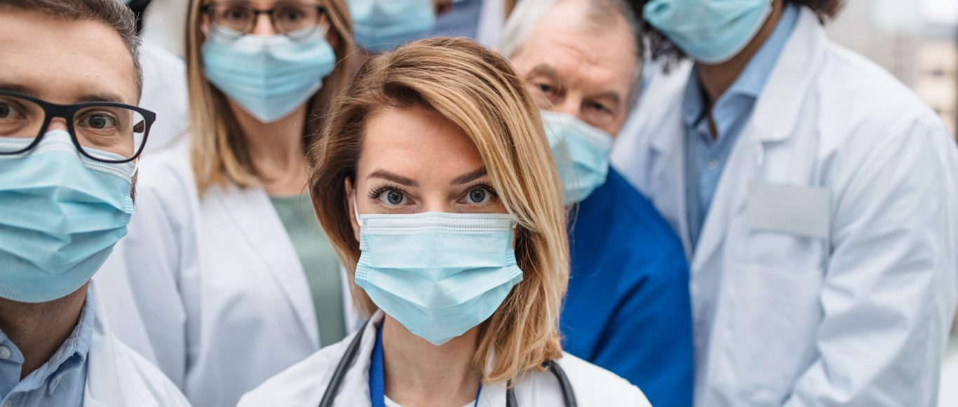 Photo of nurses in face masks