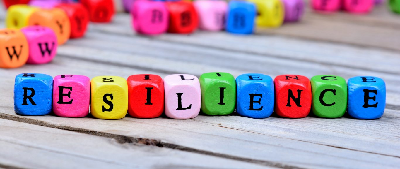 Photo of colourful blocks spelling the word 'resilience'