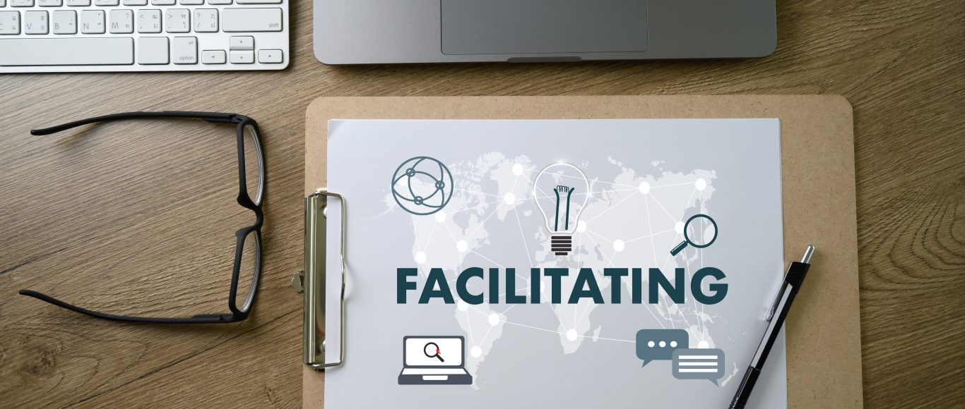 Photo of the word facilitation written on a sheet