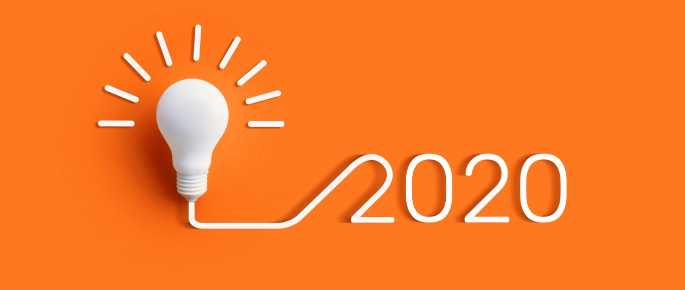 Photo of 2020 and a light bulb beside it