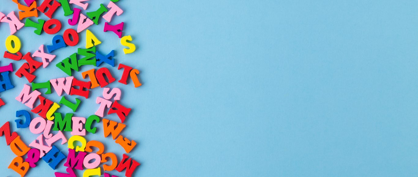 Photo of alphabet letters all jumbled together
