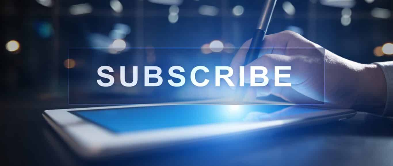 photo with the word subscribe