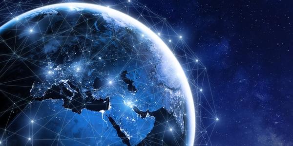 Earth showing global communication