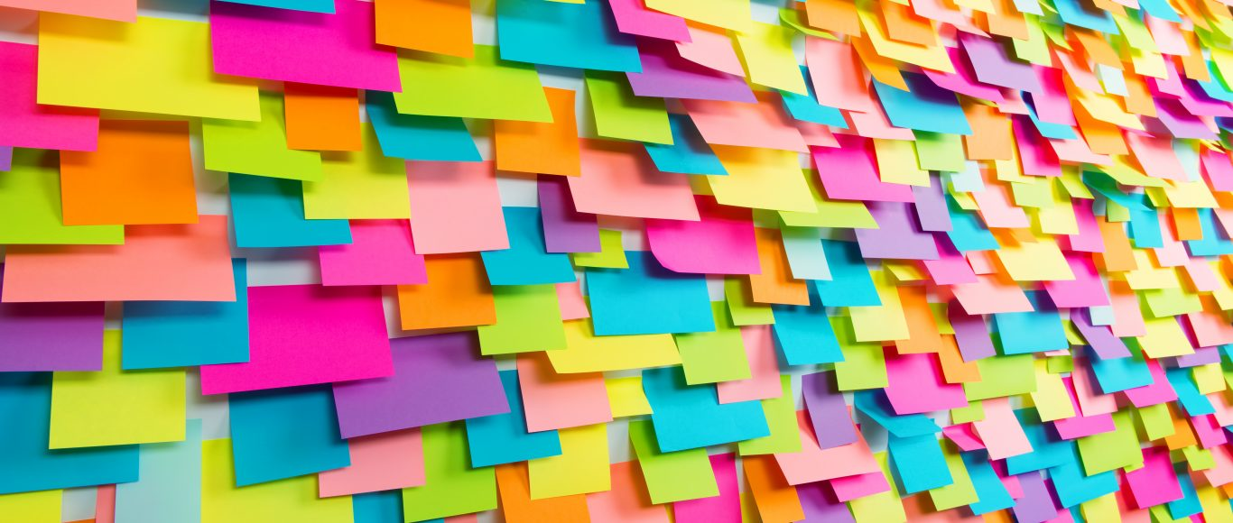 Image of colourful post-it notes