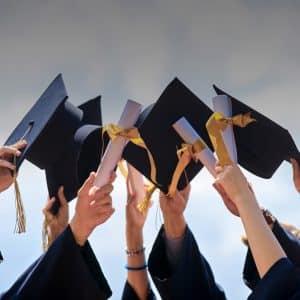 photo showing students graduating