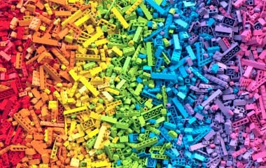 Creativity concept with Photo of multicoloured lego blocks