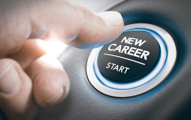 Photo of a button that says ''New career start'