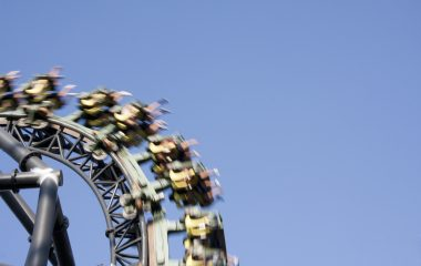 Photo of rollercoaster to represent managing change