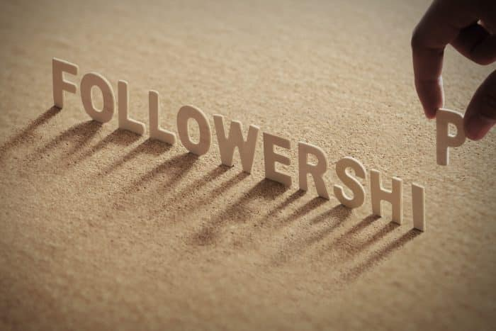 Photo of words spelling the word 'FOLLOWERSHIP'