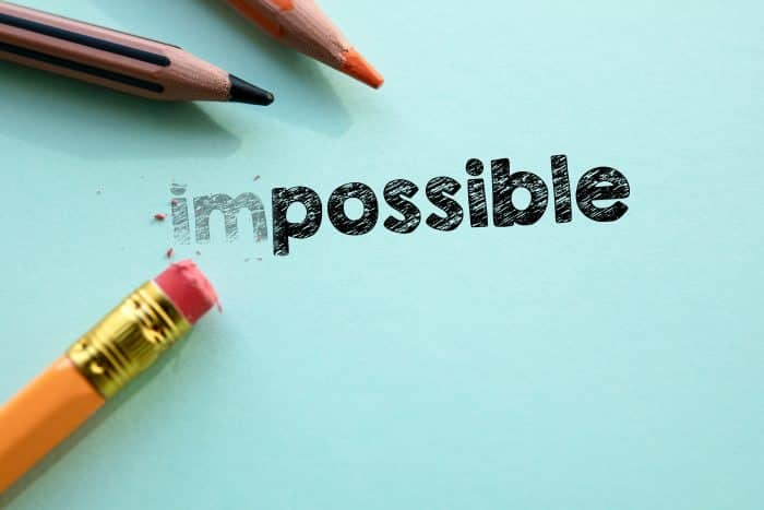 'Impossible' being rubbed out