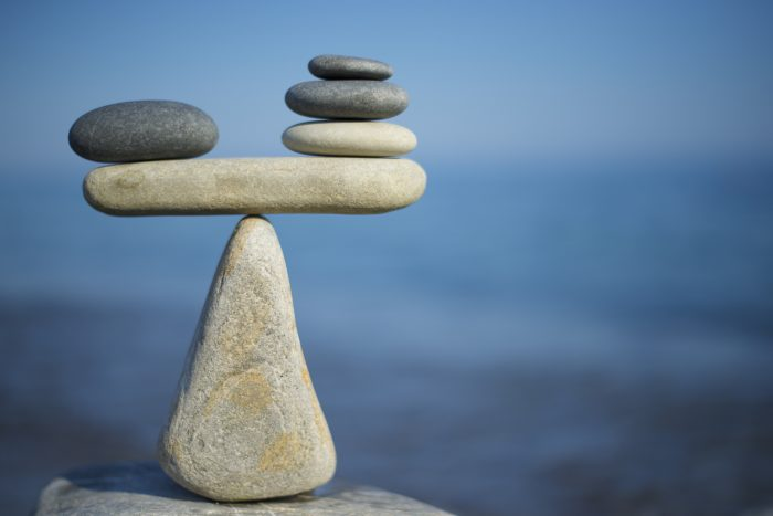 Photo of rocks balancing