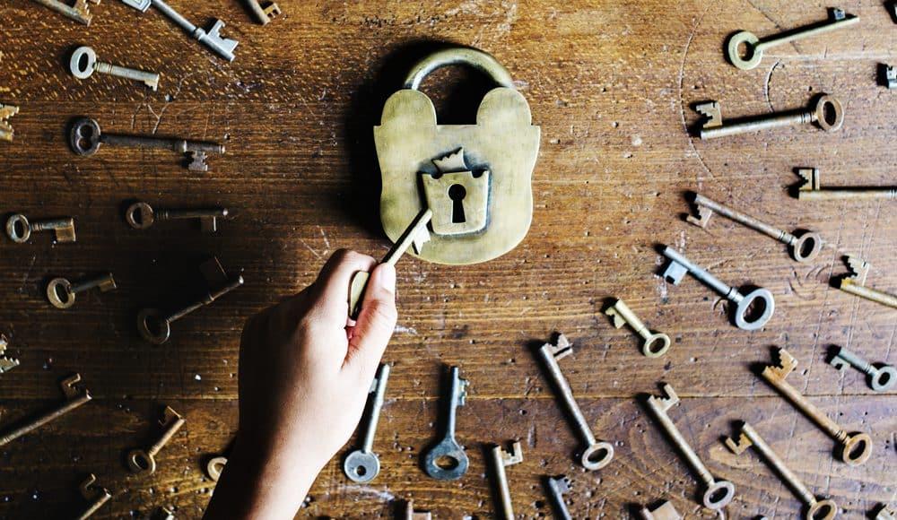 Photo of keys and padlock