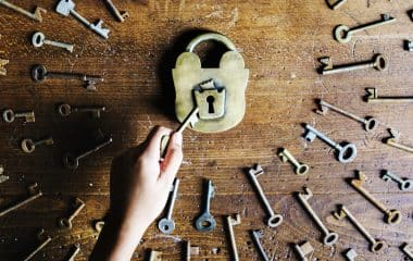 Photo of keys and padlock
