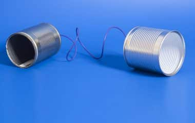 photo of tin can to represent communication
